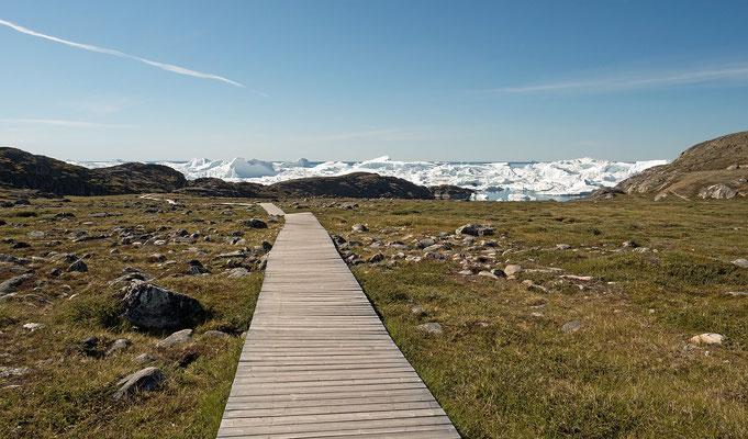 Wanderweg zum Ilulissat Eisfjord