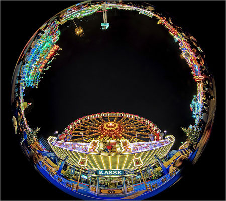 Hamburger DOM Riesenrad mit Circular Fisheye