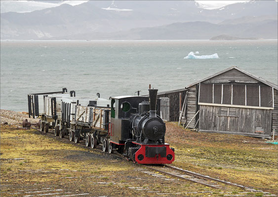 Ny-Ålesund alte Kohle-Bahn