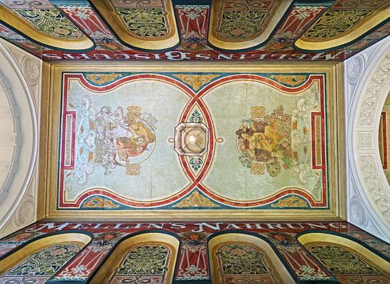 Mellin-Passage Deckenmalereien