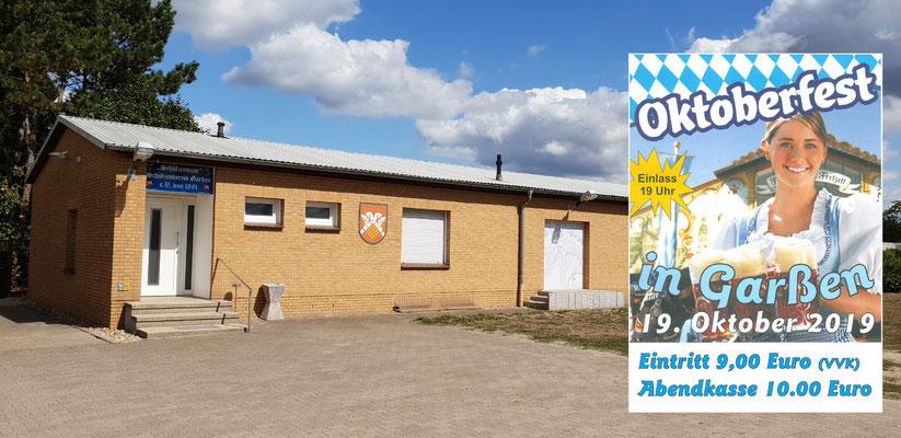 Kartenvorverkauf Mittwoch's während der Schießabende ab 18.30 Uhr im  Schützenheim in Garßen, Schützenmeister Thomas Langanki, Gersnethe 27a, 29229 Celle-Garßen