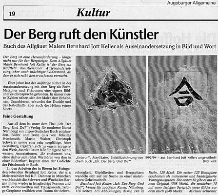 Augsburger Allgemeine · Der Berg ruft den Künstler von Michael Schreiner