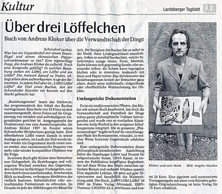 Landsberger Tagblatt · Über drei Löffelchen von Angela Häusler