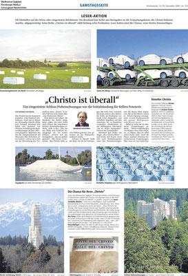 Weilheimer Tagblatt · Das sieht aus wie von Christo... · Christo ist überall