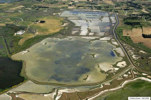 Vue aérienne des Salines