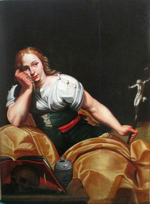 huile sur panneau de bois représentant Marie Madeleine aprés nettoyage et dévernissage