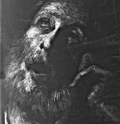 radiographie d'une huile sur toile representant St Pierre