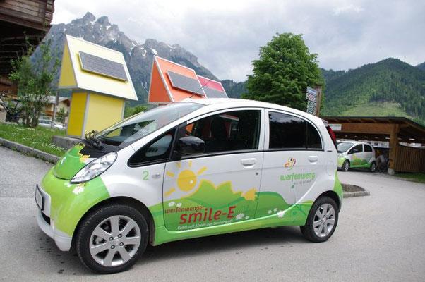 Sie können sich vor Ort jederzeit ein Elektro Auto ausleihen.