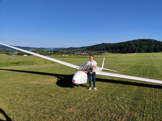 Erster Alleinflug Paula