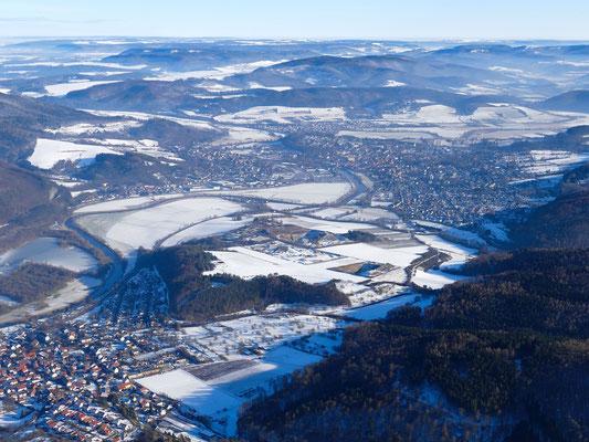 Witzenhausen und das Werratal im Schnee