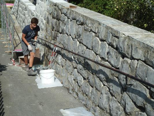Mauersanierung, Fugensanierung, Amthaus Saanen