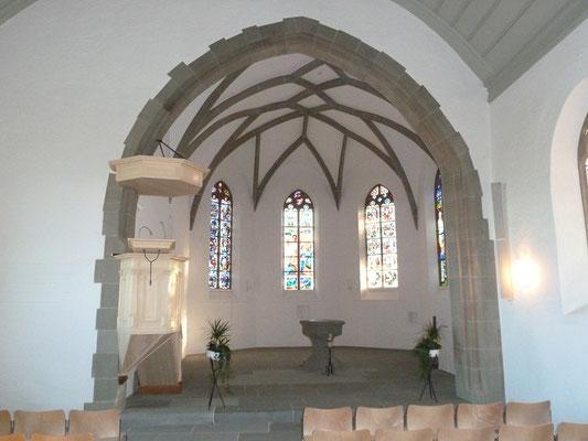 Kirche Wahlern, Reinigung Sandstein, Steinmetz