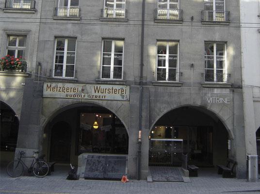 Gerechtigkeitsgasse Bern, Steinmetz, Fassadenrenovation