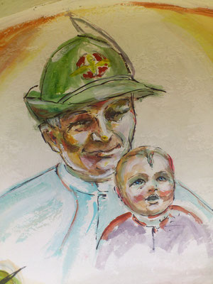 Giovanni Paolo II è invocato dagli Alpini  come loro Protettore e a lui affidano i loro figli.