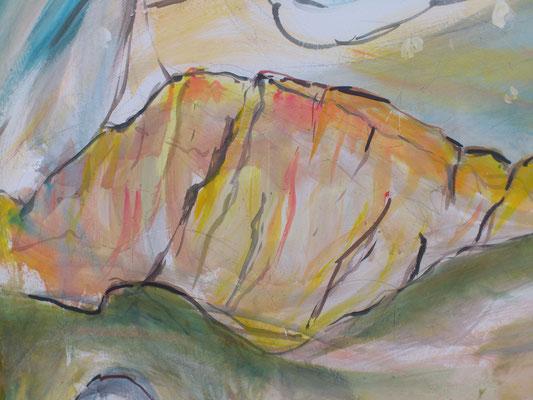 Il Civetta, con la sua sua verticale parete, saluta per ultimo chi sta partendo.