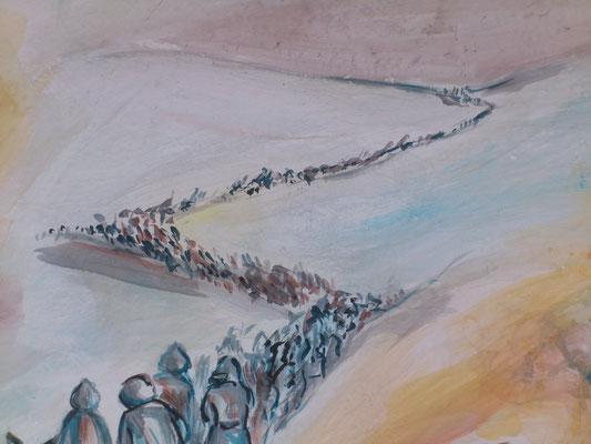 Lontanissimi, a -40, abbandonati a sè stessi, dal Don  ritorneranno a piedi percorrendo centinaia e centinaia di km combattendo per aprirsi la strada verso casa. Torneranno in pochissimi.