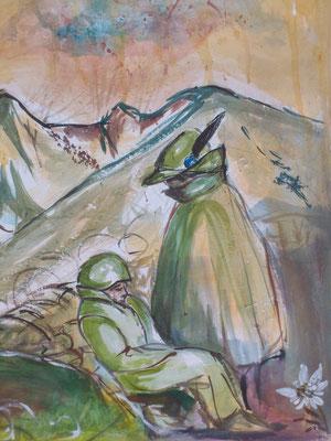 Sarà la prima guerra mondiale, una guerra di trincea, di attese, di freddo, di conquiste di pochi scoscesi metri, spesso subito perduti.
