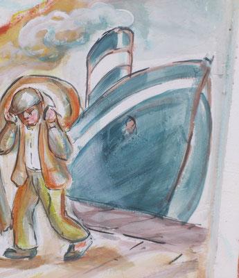 Dopo una traversata  di oltre un mese in battello a vapore, gli emigranti giunsero sulle coste brasiliane.