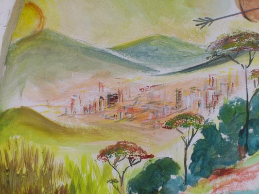 Le generazioni successive continuarono il progresso dei primi antenati, tanto da costruire fiorenti e moderne città, come si può vedere affacciandosi dalla terrazza della Chiesetta Alpina