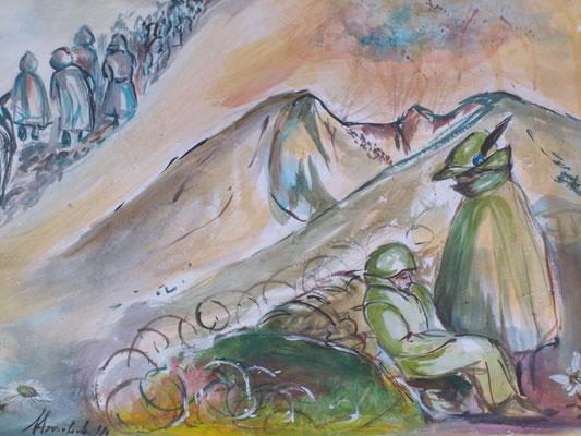 Sul Col di Lana  lasceranno la vita migliaia e migliaia di uomini. Una grossa mina sfigurerà per sempre la forma della montagna che mostra ancor oggi la sua cicatrice.