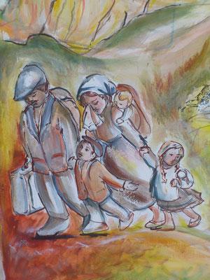 Le prime emigrazioni avvengono per fame e miseria... o moriamo qui o tentiamo la fortuna.