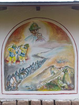 La seconda nicchia illustra quale sarà la storia degli Alpini,cominciando dal 1914 esattamente un secolo fa, fino ai giorni nostri.