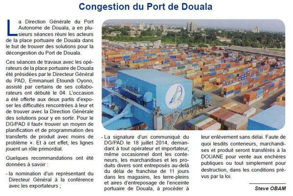 Port autonome de douala pad 2014 la m moire du - Site internet du port autonome de douala ...