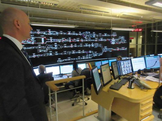 Gullmarsplan、グリーン路線のコントロールルーム