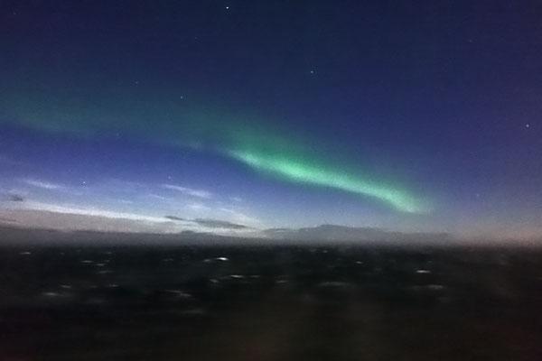 leichtes Nordlicht - nur ein Beweisfoto :)