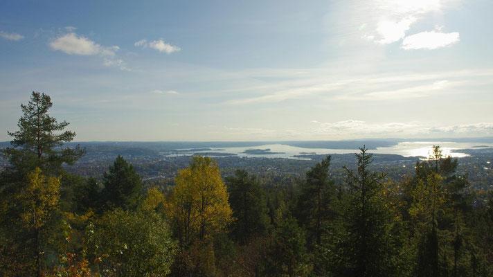 Ausblick auf Oslo vom Vettakollen