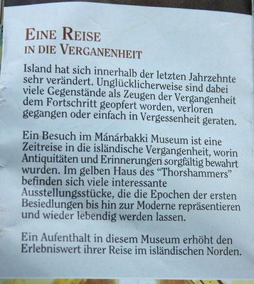 in einem Prospekt über das Museum gefunden