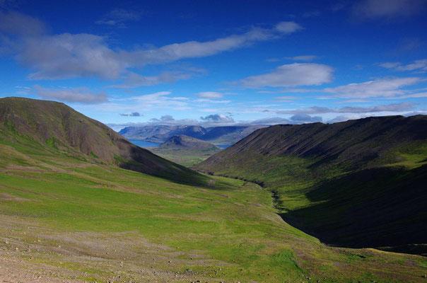 auf dem Weg über die Berge...