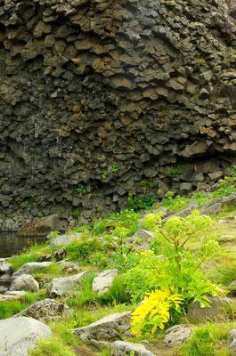 Thjorsardalur mit seinen gigantischen Basaltfelsen