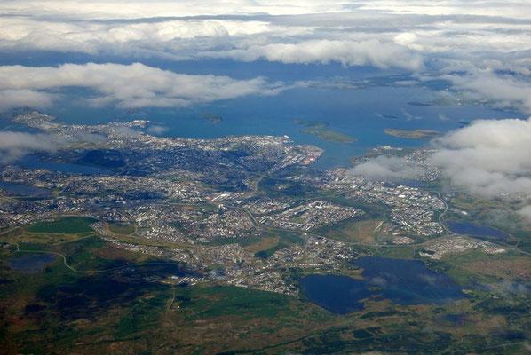 Reykjavik aus der Luft