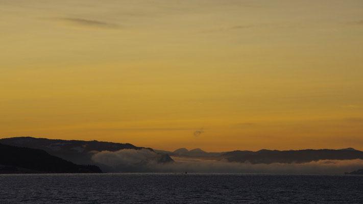 und zurück gehts wieder durch den Trondheimfjord