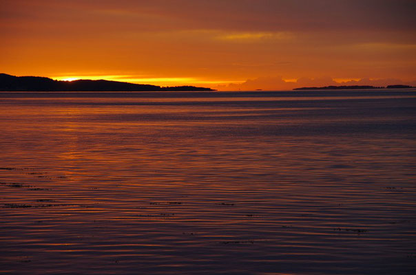und der gigantische Sonnenuntergang, der nicht enden wollte an diesem Abend/frühen Morgen