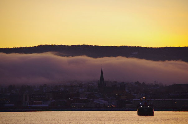 Morgennebel in Trondheim