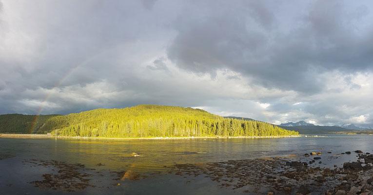 Regenbogen nach dem Regenguss