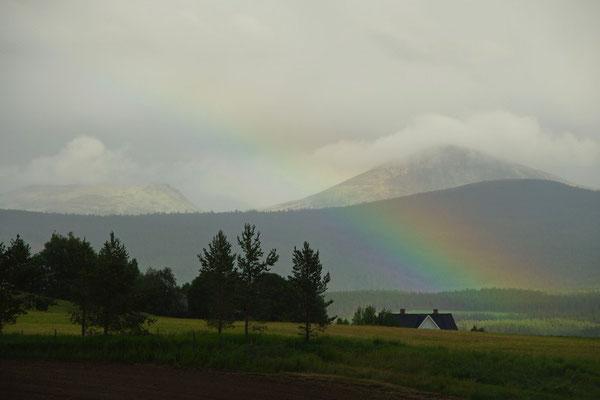 einen Regenbogen gabs auch noch zum Abschluß des Tages