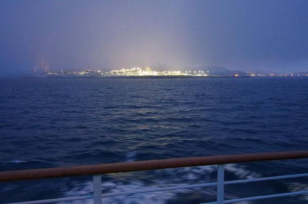 immer wieder eindrucksvoll Melkøya mit Erdgasverarbeitungsanlage bei Hammerfest