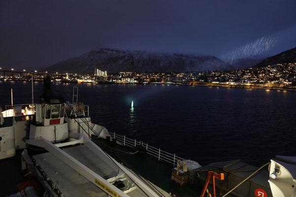 Einfahrt in Tromsø