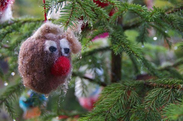 Freiluftweihnachtsbaumdeko