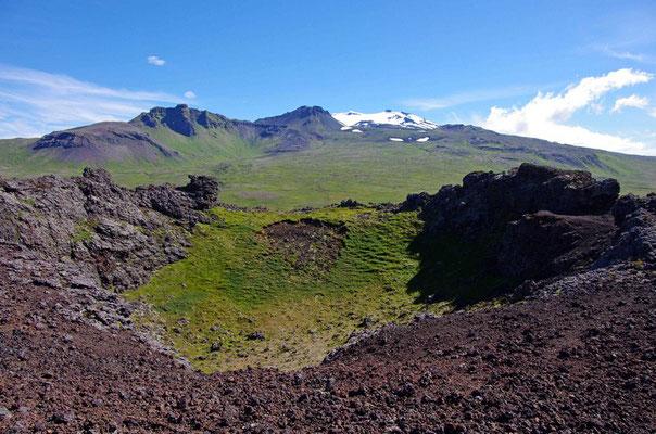 Blick zum Snæfelssjökull
