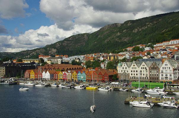 Bergen - Tyske Bryggen vom meinem Hotelfenster aus
