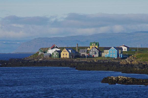 Häuser auf Flatey