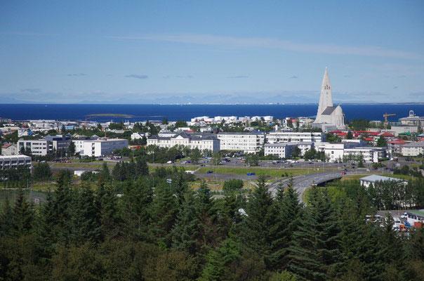 Blick auf Reykjavik vom Perlan