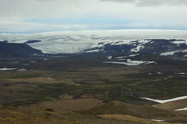 Blick auf den Gletscher Langjökull
