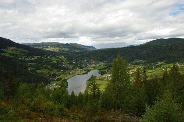 Blick ins Sør-Aurdal und Bagn