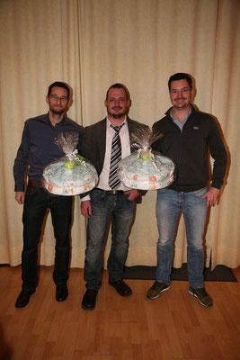 Glückwünsche für Helmut und Markus