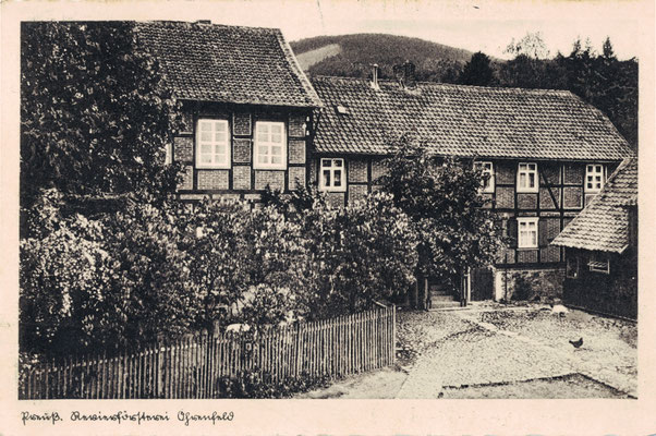 Oehrenfeld, 1933, Revierförsterei